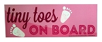 Caution - Tiny Toes Pink