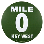 Key West Mile 0 Bumper Sticker
